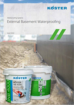 Positive Side Waterproofing of Construction Elements